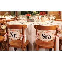 Placa Para Cadeira Noivos, Convidados Ou Padrinhos