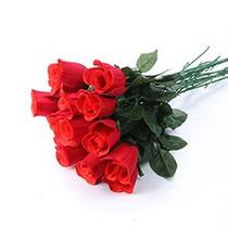 144 Rosas Artificiais Em Botão - Artificial Flores Flor Rosa