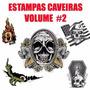 Vetor Caveiras Vol 2 Estampas Silk Transfer Canecas Camiseta