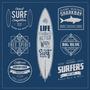 Estampas Surf Vetorizadas Silk Sublimação Camiseta Vetor