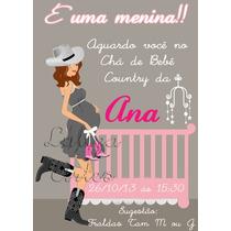 Arte Digital Convite Chá De Bebê Country