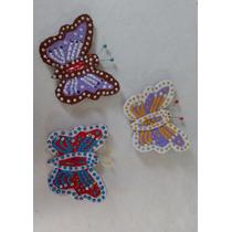 Kit 3 Borboletas Decorativa Eva/papelão Para Geladeira Ml24