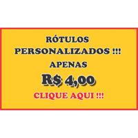 Rótulos Personalizados,adesivos Só R$ 4,00 20 Unidades !!!