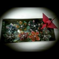 Caixa C/ 8 Flores De Origami