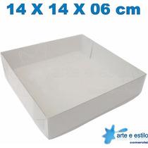 Embalagem Com 25 Caixas De Acetato 14x14x6 Cm