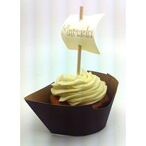 Cupcake Wrapper Saia Barco Pirata Personalizado - 15 Unid