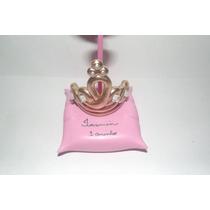 Kit 10 Lembr Coroa Dourada Almof Princesa Príncipe Biscuit
