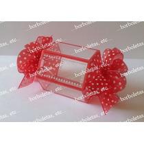 Lembrança Porta Balas Acetato Decorado - 25 Unid - Vermelho