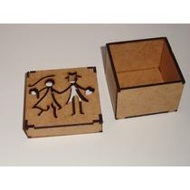 100 Caixas 5x5x5 Em Mdf Cru Noivinhos Vazados