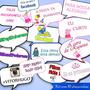 Plaquinhas Para Fotos De Aniversário Personalizadas Kit C/10