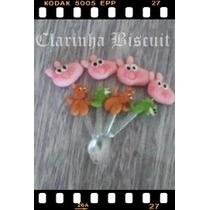 Peppa Pig Biscuit Mini Colherzinha Kit C/ 30 Peças