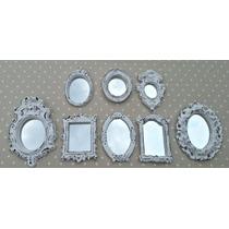 Kit 8 Mini Espelhos Estilo Provençal