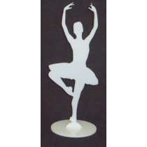Kit 10 Bailarinas Acrílico 15cm Lembrança Aniversário Festa