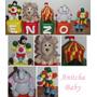 Cubos Com Letras Para Decoração Circo Aniversário