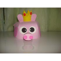 Pacote Com 10 Unidades-chapéu De Eva Tema Peppa Pig