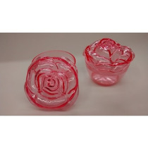 Caixinha Flor Acrilica 4x4 - Pacote Com 12 Unids