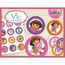Dora Aventureira - 120 Toppers Ou Tag Com Palito P/ Doces