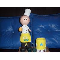 Boneco Cozinheiro Com Porta Caneta Eva