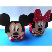 Centro De Mesa Da Minnie E Mickey Com Pega Balão