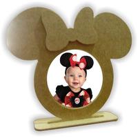 Porta Retrato Minnie Ou Mickey - Mdf Cru - Kit Com 100 Peças