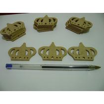 Aplique Mini Coroa Mdf Festa Decoração Kit C 50 R$ 1,00 Cada