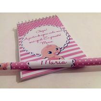 Bloquinhos Personalizados Com Lápis Para Maternidade - 50