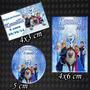 Kit Frozen Adesivo P/ Latinha+tubete+tag 40 Unidades De Cada