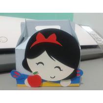 Caixa Mickey Branca Neve Caixinha Vestido Cone Personalizado