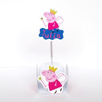 Forminha Doce + Topper Personalizadas Peppa 20 Unid