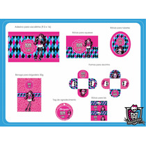 Kit Digital De Artes Personalizadas Monster High