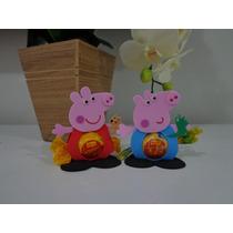 Porta Bombom Da Peppa Pig, George, Mamãe Pig E Papai Pig