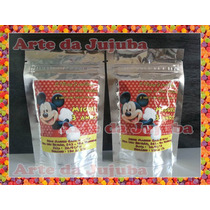 10 Saquinho Metalizado Personalizado - Tema Mickey