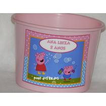 Kit 30 Baldes De Pipoca Peppa Pig 1,5 Litros
