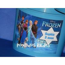 Kit 20 Baldes De Pipoca Personalizado Frozen 1,5 L