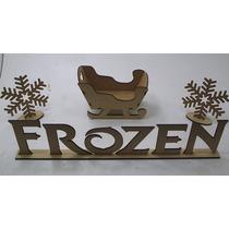 Kit Frozen Palavra Treno E Flocos De Neve - 4 Peças