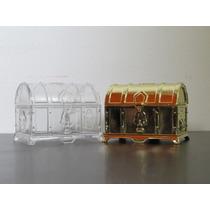 Mini Baú De Acrilico Para Lembrancinha - Pct Com 12 Unidades