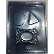 Forma De Acetato Chocolate Porta Retrato Moldura Kit 40 Pçs