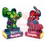 Kit 60 Caixinha Paçoquita Homem Aranha E Hulk Personalizados