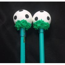 Lembrancinhas - Ponteiras P/ Lápis Bola De Futebol Biscuit