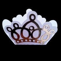 Forminhas De Doces Coroa Dourada Princesa 100 Unidades