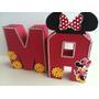 5 Letras 3d Minnie - Festa Infantil Decoração Mesa