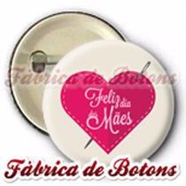20 Botons Broches Botton Feliz Dia Das Mães Coração 2,5cm