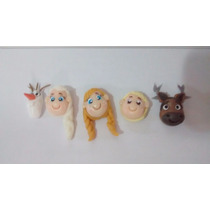 Cabeças Dos Personagens Frozen Biscuit