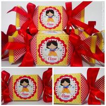 30 Caixa Bala+30 Cones Personalizados+fita De Cetin+saquinho