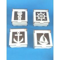 Lembrancinha Caixinha Mdf Branco Marinheiro Kit 40 Unidades