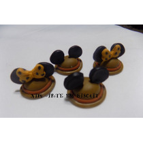 50 Apliques Biscuit Mickey Minnie Safari 3,5cm Frete Grátis