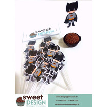 50 Toppers Personalizados P/ Doces/cupcakes - Batman