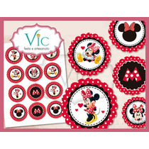 Minnie - 120 Toppers, Totens Ou Tag Com Palito P/ Doces