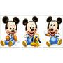 Kit 12 Mickey Baby Disney Mdf Mesa Decoração De Festa
