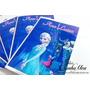 Livrinhos Personalizados Frozen Com Giz De Cera - 30 Kits
